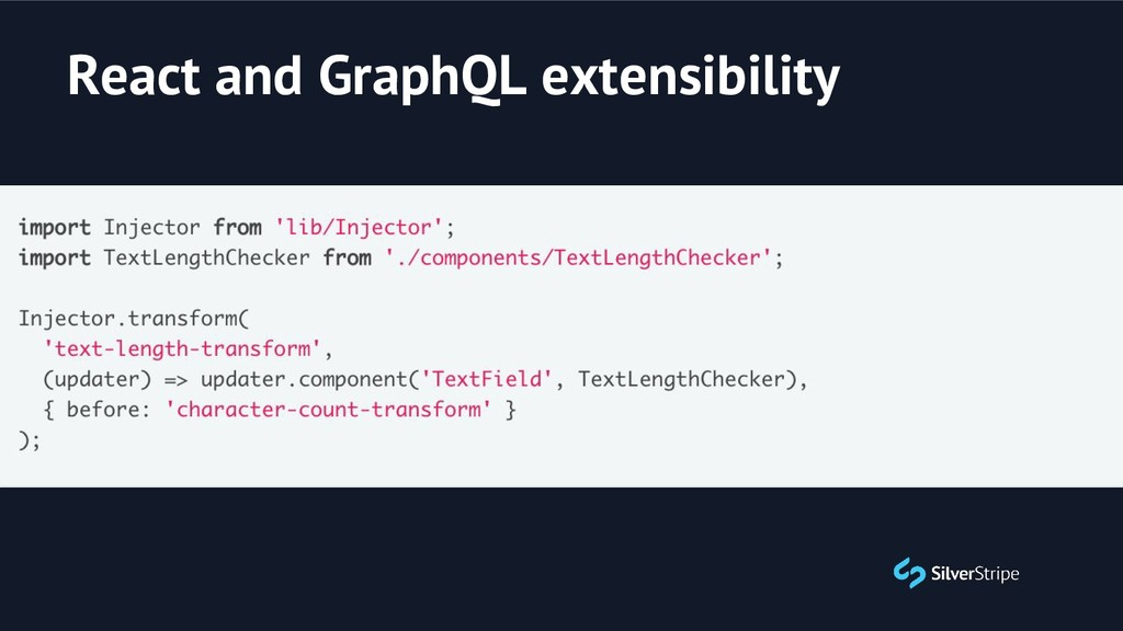React and GraphQL extensibility