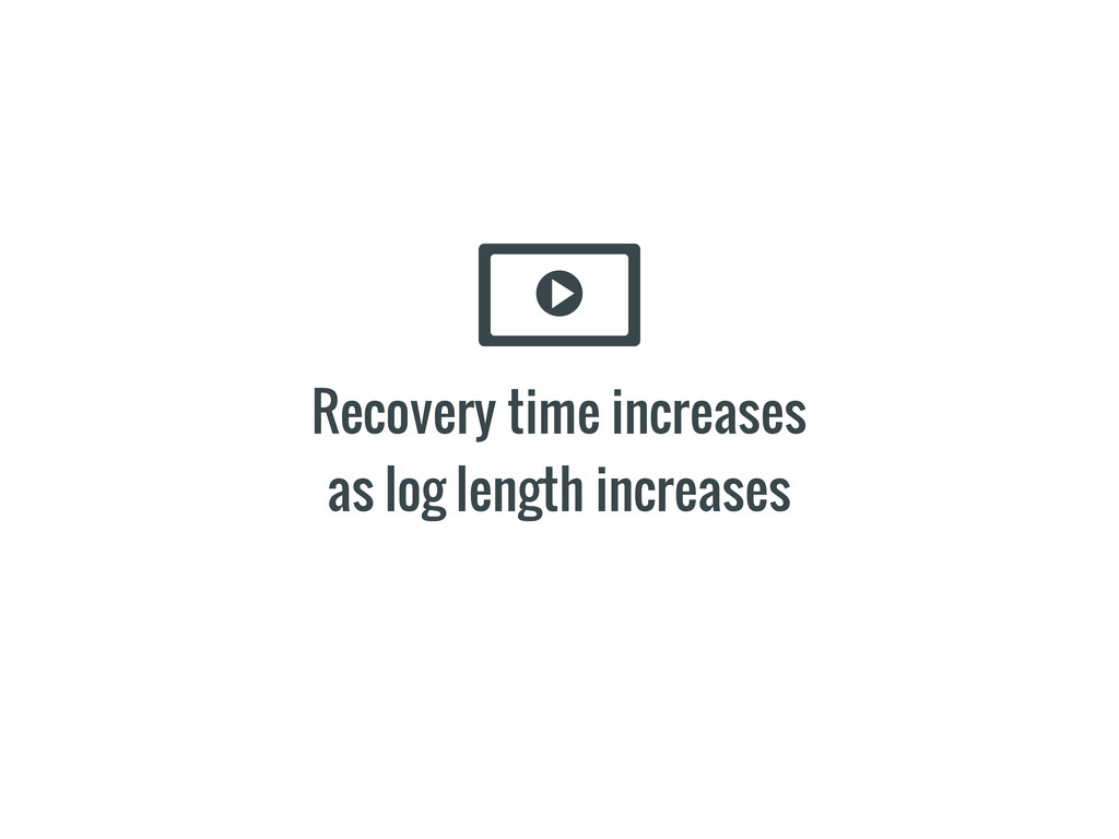 Recovery time increases as log length increases