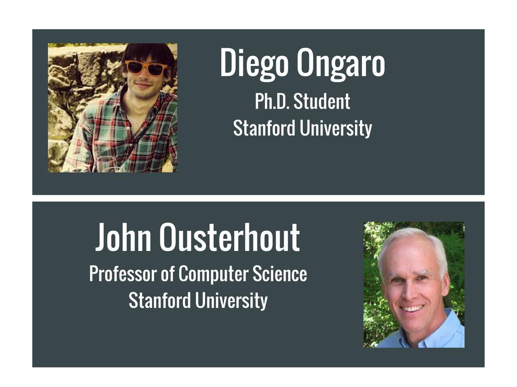John Ousterhout Professor of Computer Science S...