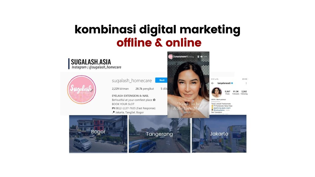 kombinasi digital marketing offline & online