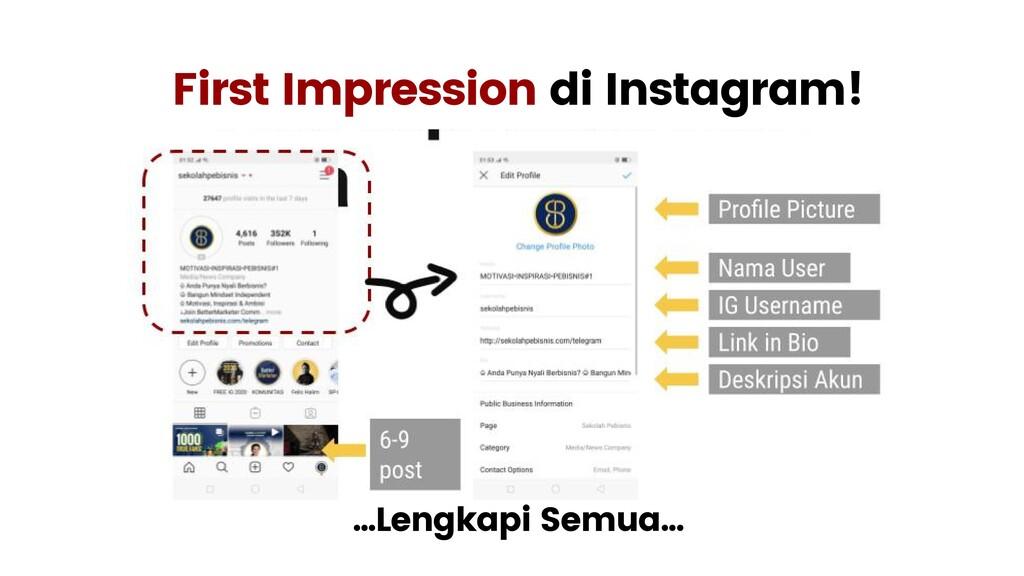 First Impression di Instagram! ...Lengkapi Semu...