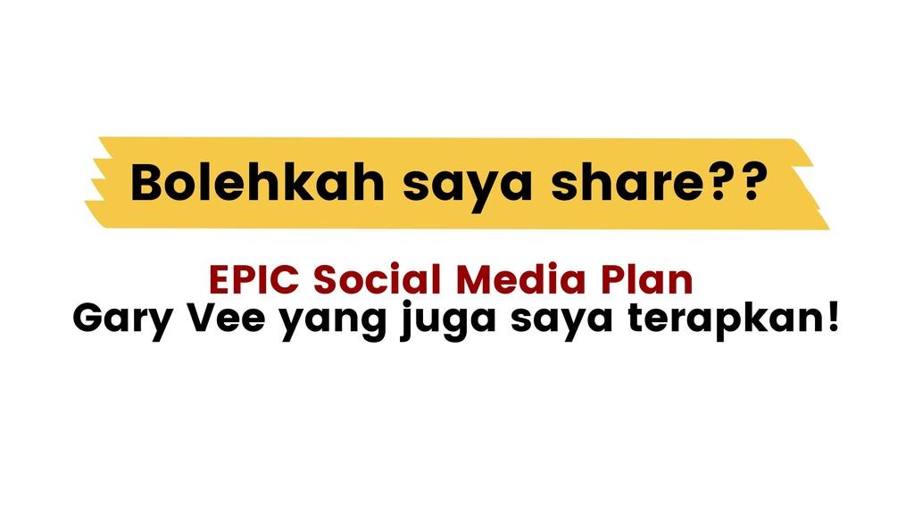 EPIC Social Media Plan Gary Vee yang juga saya ...