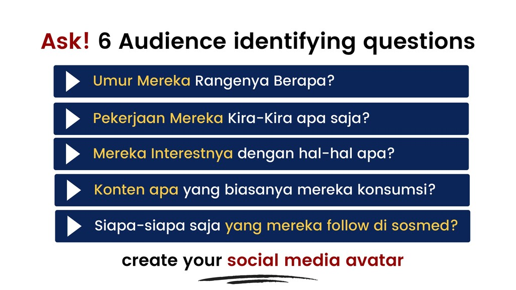 Ask! 6 Audience identifying questions create yo...