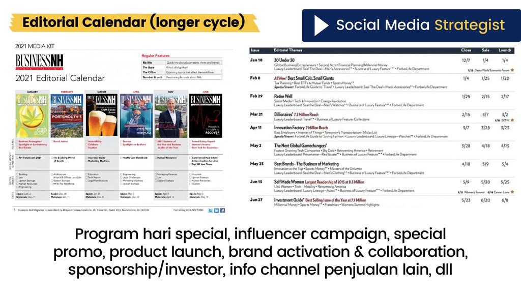 Program hari special, influencer campaign, spec...