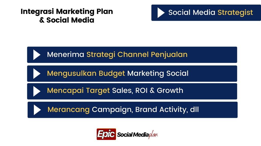 Social Media Strategist Integrasi Marketing Pla...