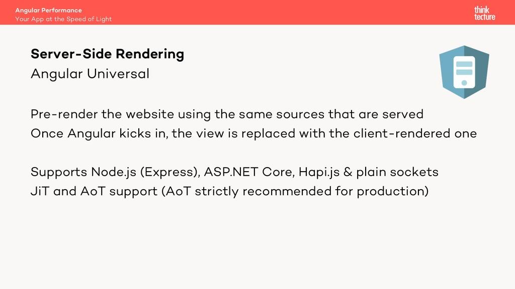 Angular Universal Pre-render the website using ...