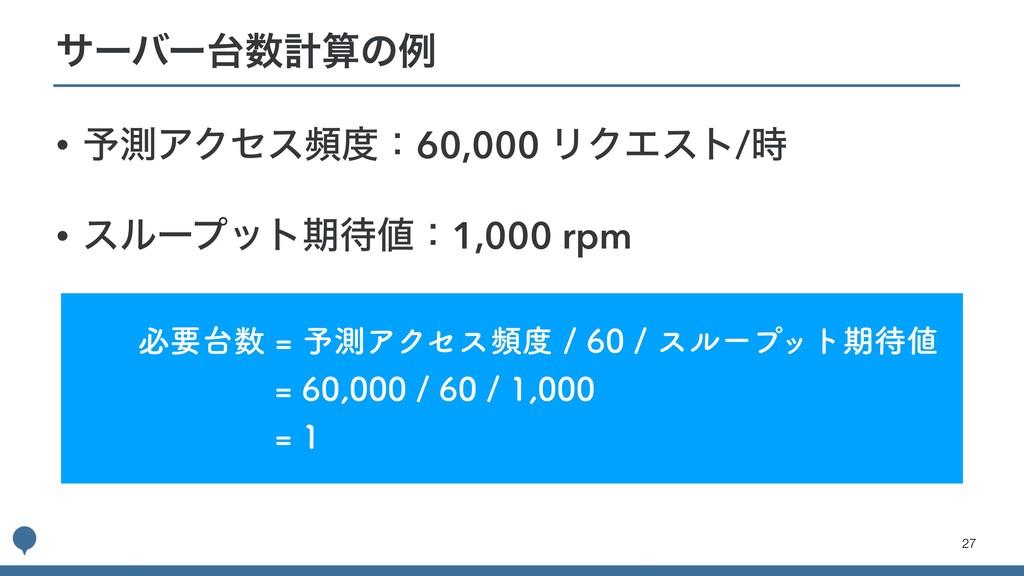 !27 • ༧ଌΞΫηεසɿ60,000 ϦΫΤετ/ • εϧʔϓοτظɿ1,000...
