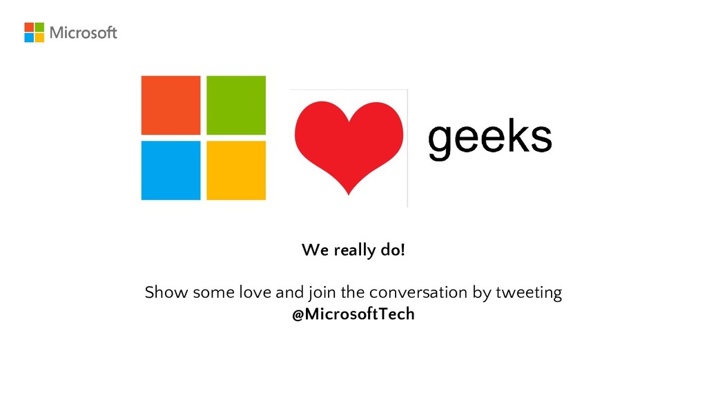 We really do! Show some love and join the conve...