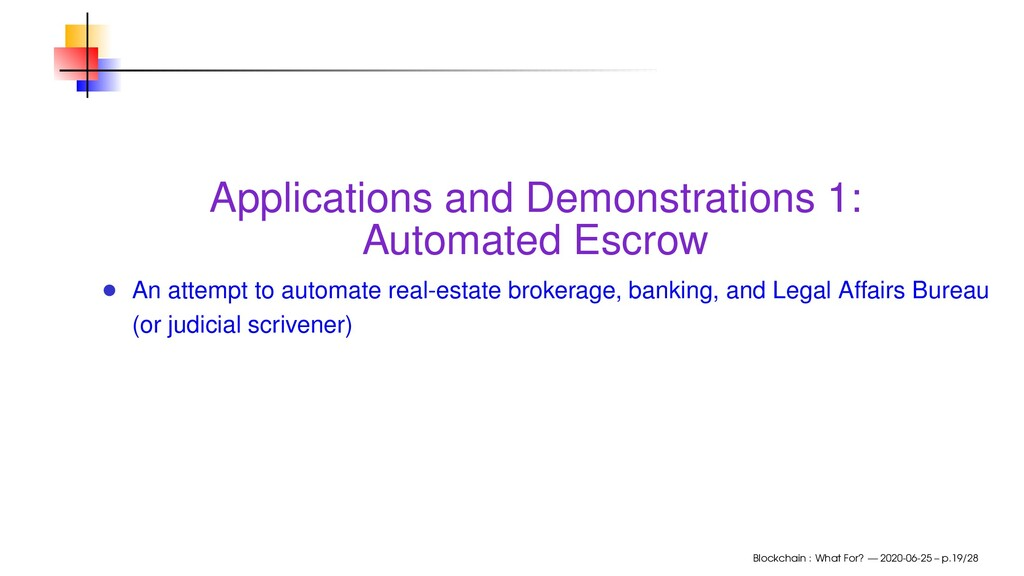 Applications and Demonstrations 1: Automated Es...