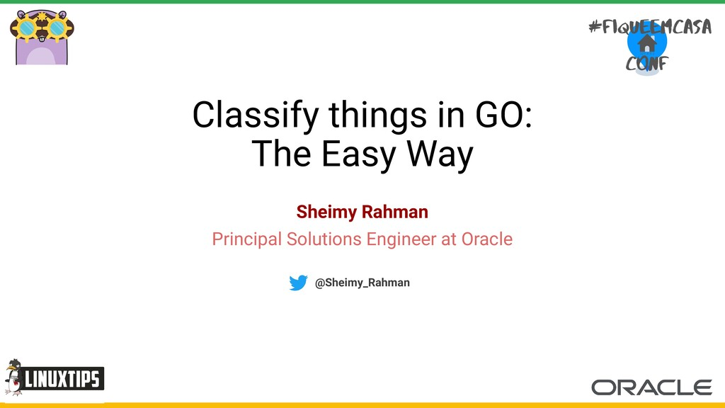 Classify things in GO: The Easy Way Sheimy Rahm...