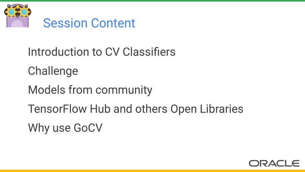 Session Content Introduction to CV Classifiers C...