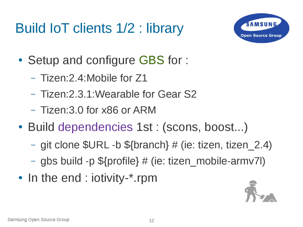 Samsung Open Source Group 12 Build IoT clients ...