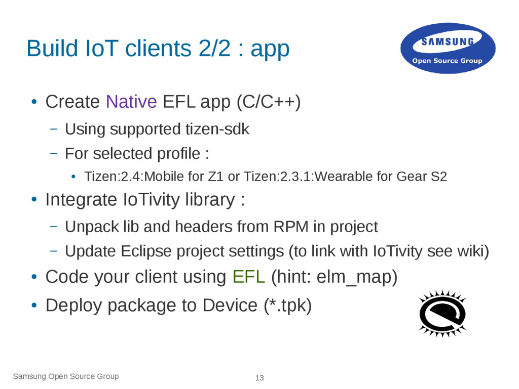Samsung Open Source Group 13 Build IoT clients ...