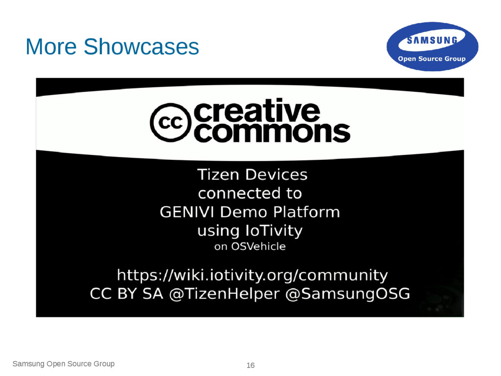 Samsung Open Source Group 16 More Showcases