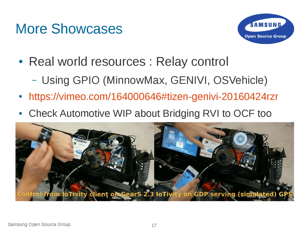 Samsung Open Source Group 17 More Showcases ● R...
