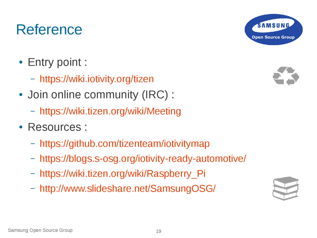 Samsung Open Source Group 19 Reference ● Entry ...