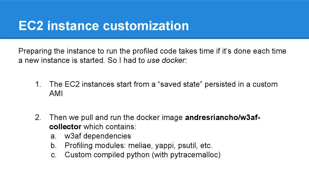 EC2 instance customization Preparing the instan...