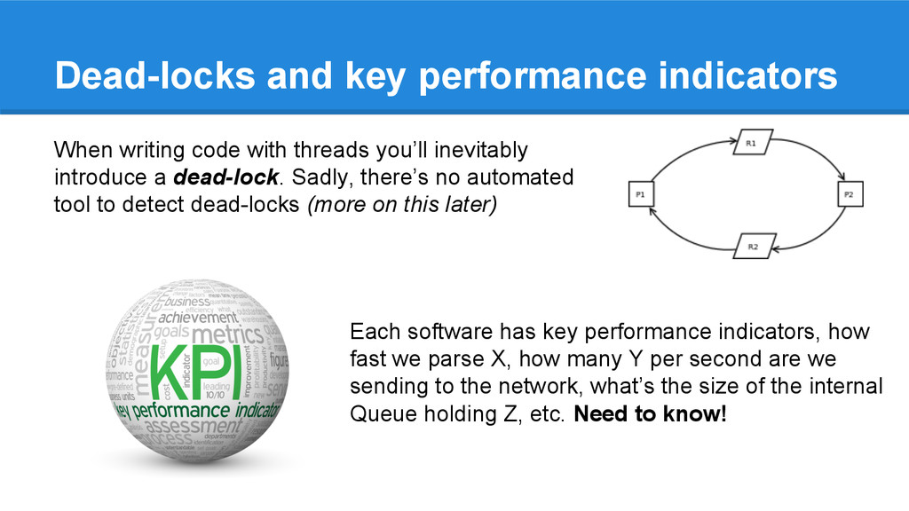 Dead-locks and key performance indicators When ...