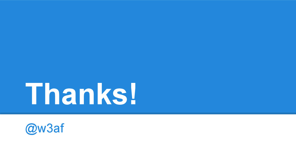 Thanks! @w3af