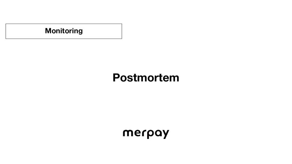 Postmortem Monitoring
