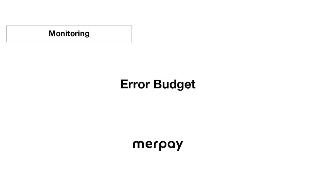 Error Budget Monitoring