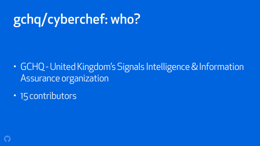 gchq/cyberchef: who? • GCHQ - United Kingdom's ...