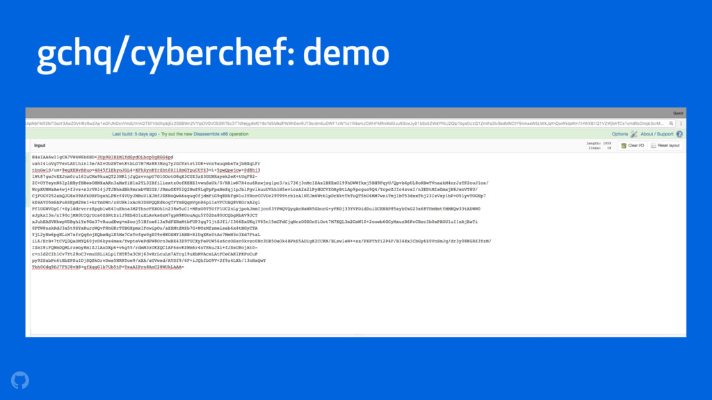 gchq/cyberchef: demo