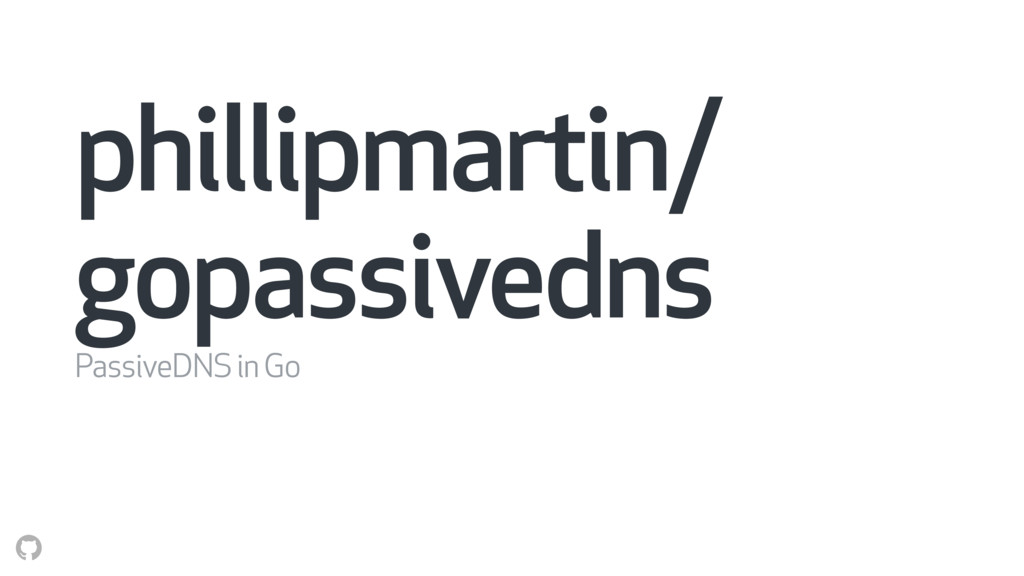 phillipmartin/ gopassivedns PassiveDNS in Go