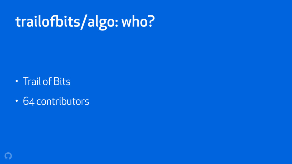 trailofbits/algo: who? • Trail of Bits • 64 con...