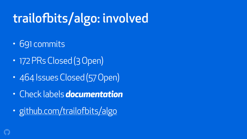 trailofbits/algo: involved • 691 commits • 172 ...