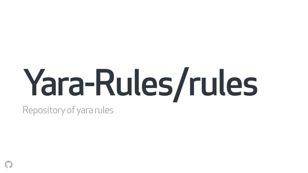 Yara-Rules/rules Repository of yara rules