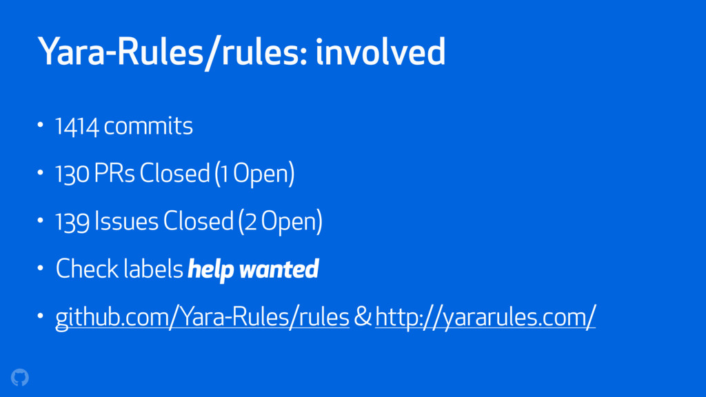 Yara-Rules/rules: involved • 1414 commits • 130...