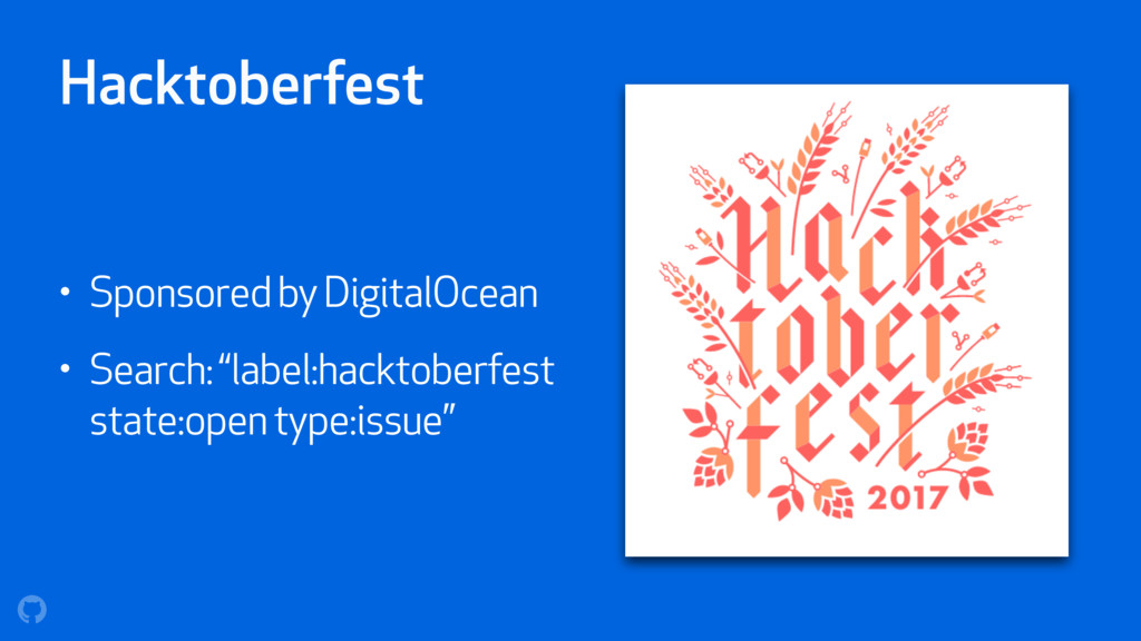Hacktoberfest • Sponsored by DigitalOcean • Sea...