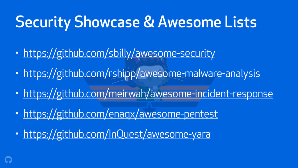 Security Showcase & Awesome Lists • https://git...