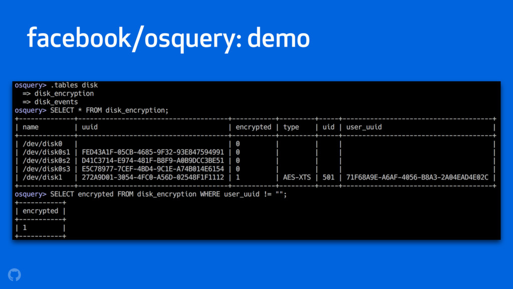facebook/osquery: demo