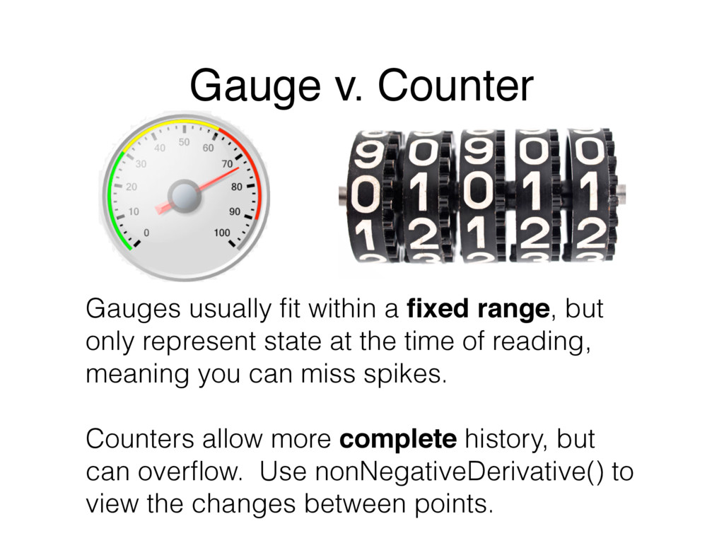 Gauges usually fit within a fixed range, but only...