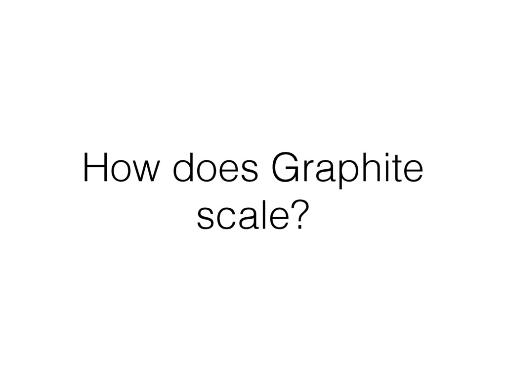 How does Graphite scale?