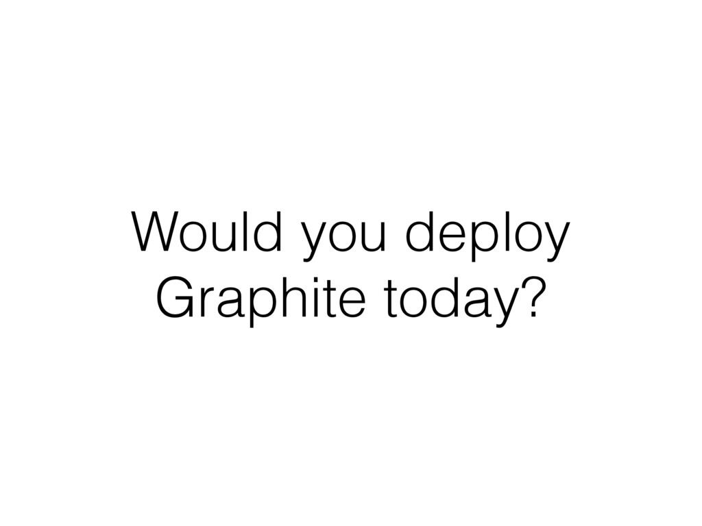 Would you deploy Graphite today?