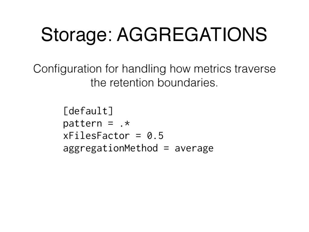 Configuration for handling how metrics traverse ...