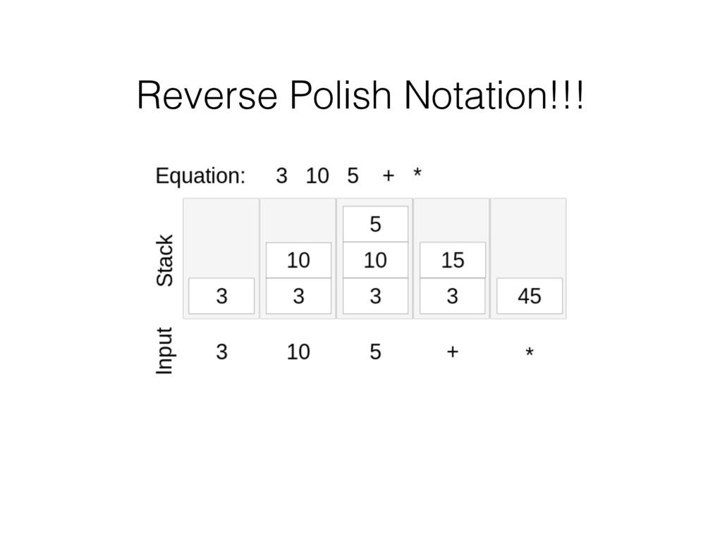 Reverse Polish Notation!!!