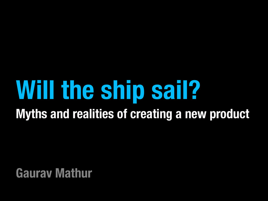 Will the ship sail? Myths and realities of crea...