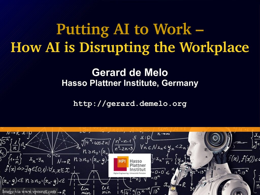 Putting AI to Work – How AI is Disrupting the W...