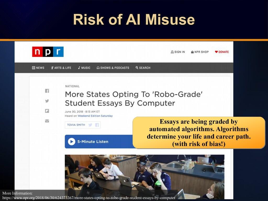 Risk of AI Misuse Risk of AI Misuse Risk of AI ...