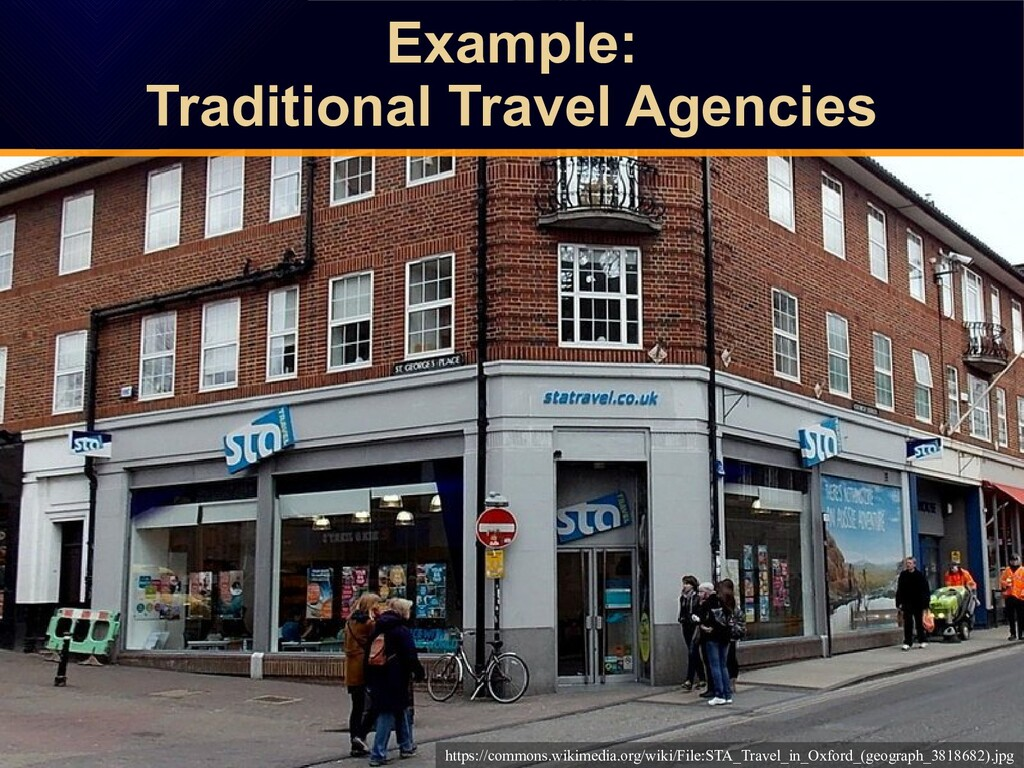 Example: Traditional Travel Agencies Example: T...