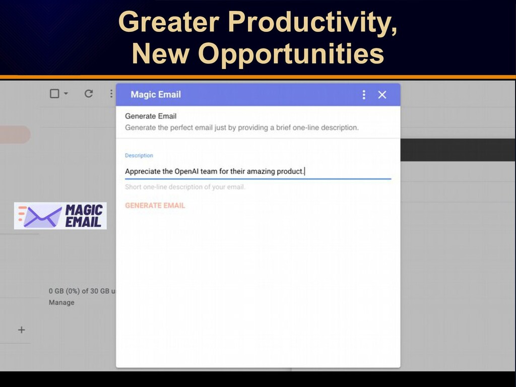 Greater Productivity, New Opportunities Greater...