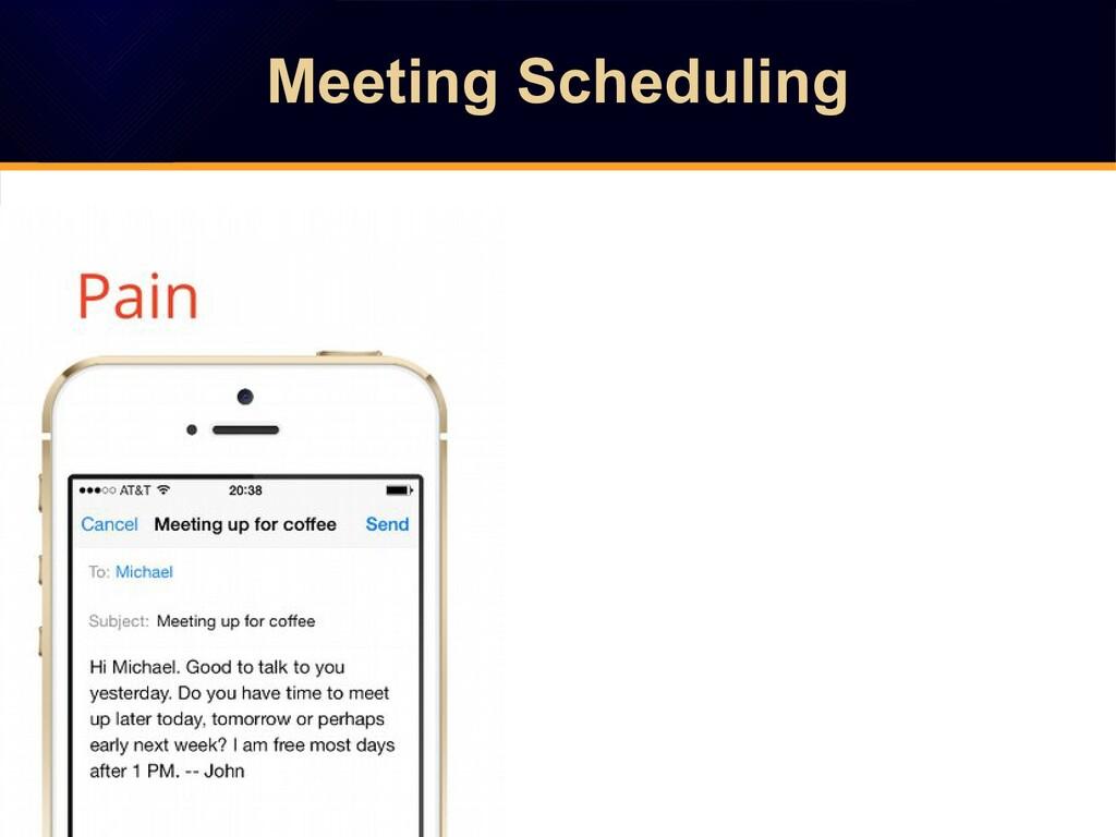 Meeting Scheduling Meeting Scheduling