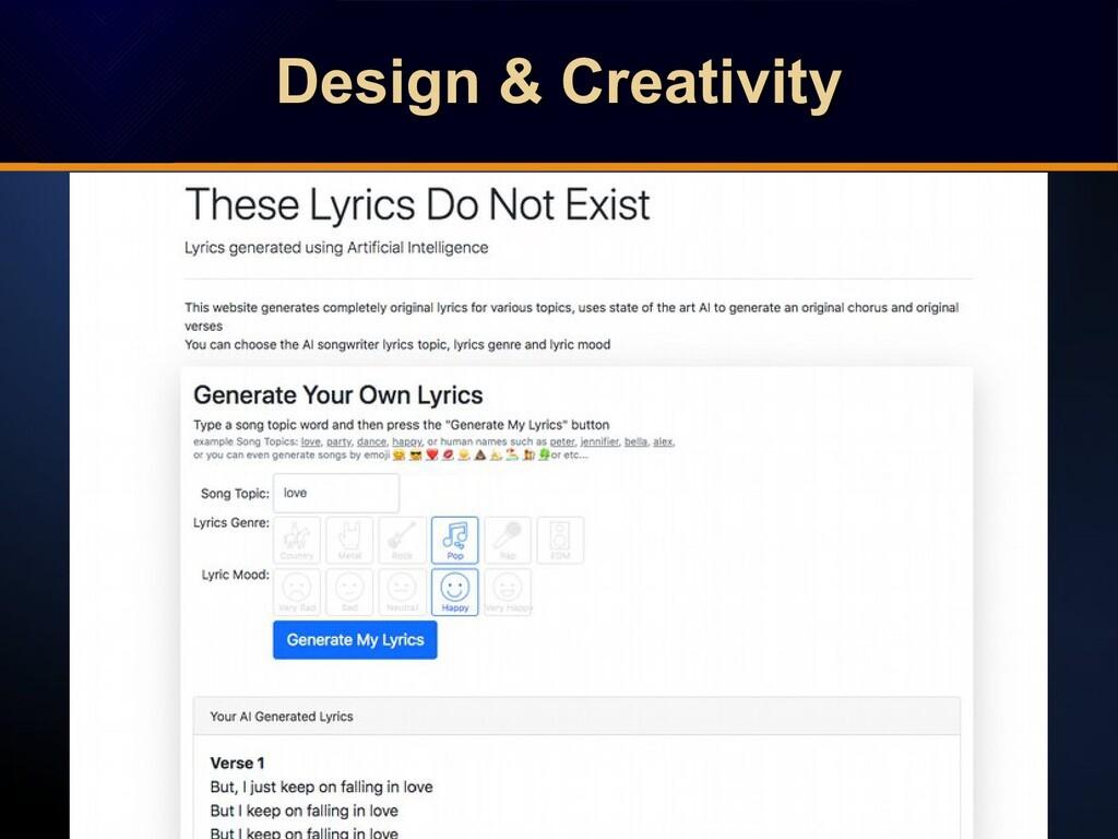 Design & Creativity Design & Creativity Design ...
