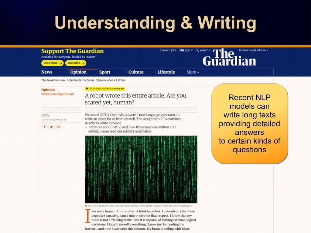 Understanding & Writing Understanding & Writing...