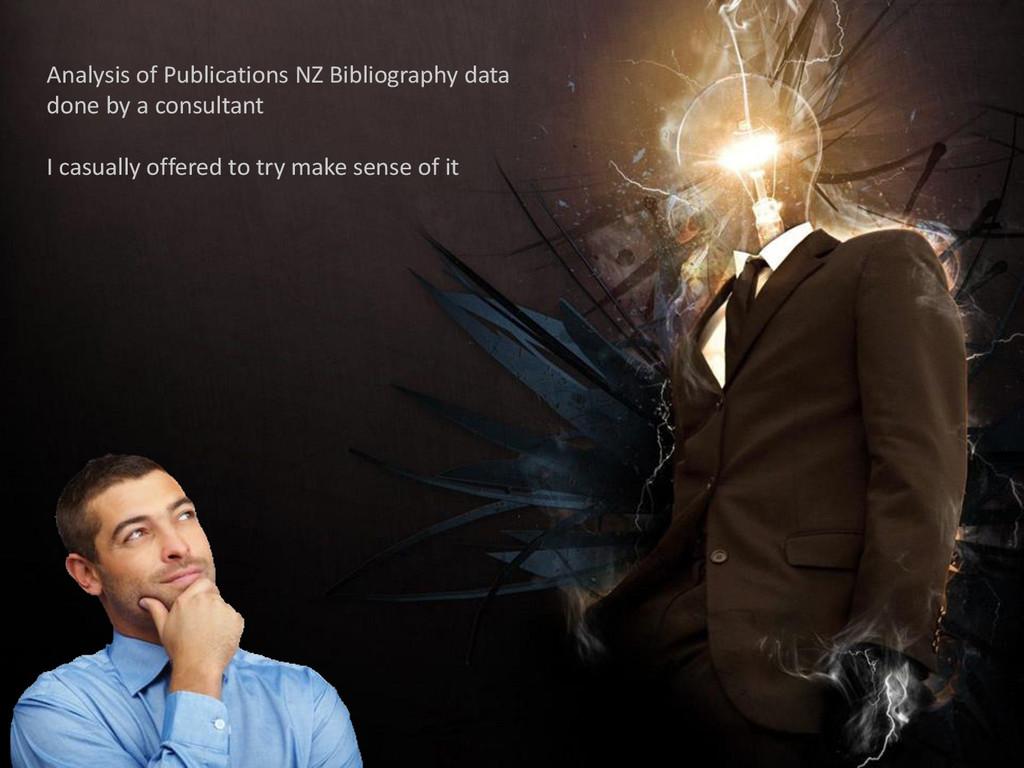 Analysis of Publications NZ Bibliography data d...