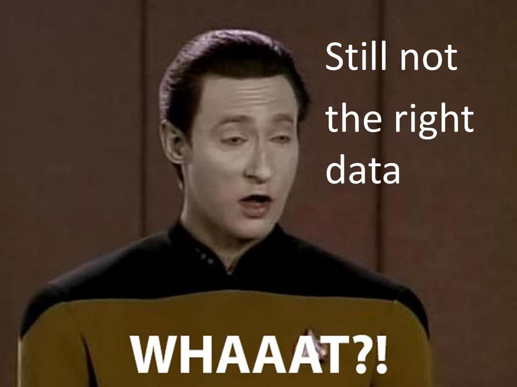 Still not the right data